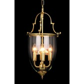 Impex Norfolk Lantern - 4 Light, Polished Brass and Gold