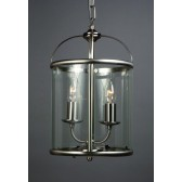 Impex Orly Lantern Satin - 2 Light, Satin Chrome & Nickel