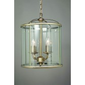Impex Orly Lantern Antique Brass - 4 Light