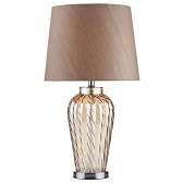 Lilly Champagne Glass Table Lamp cw/ shade