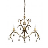 Elstead LL3 ANT BRZ Lily 3 - Light Chandelier Antique Bronze
