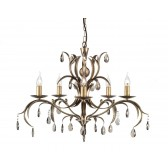 Elstead LL5 ANT BRZ Lily 5 - Light Chandelier Antique Bronze