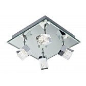 Logic 4 Light Plate Polished Chrome Led Ip44