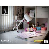 Looker Table Lamp 1 Light White/Purple
