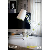 Looker Table Lamp 1 Light White/Green