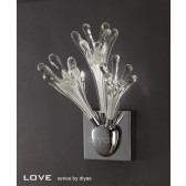Diyas Love Wall Lamp 3 Light Polished Chrome