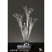 Diyas Love Table Lamp 3 Light Polished Chrome