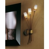 Mosca Wall Lamp - 3 Light, Antique Brown