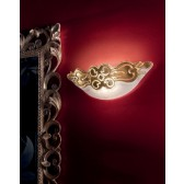 Salisburgo Flush Fitting - 2 Light, Antiqued, Gold Leaf Glass