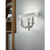 Veneziano LED Wall Lamp - White, Smoked Glass