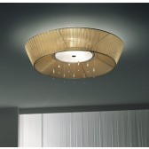 Parigi Flush Ceiling Light - 2 Light, Amber Shade (Diameter 60cm)
