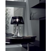 Parigi Table Lamp - 1 Light, Chrome, Black Shade
