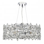 Luella 4 Light Pendant With Crystal Flowers