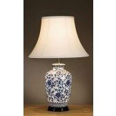 Luis Collection LUI/BLUE G JAR Blue Ginger Jar Table Lamp - Shade not Included