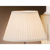Luis Collection LUI/LS1052 Ivory 30cm Cotton Fine Pleat Shade