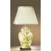 Luis Collection LUI/PARROT Parrot Yellow/Green Temple Jar Lamp
