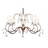 Elstead LUN8 BRONZE Lunetta 8 - Light Chandelier Bronze
