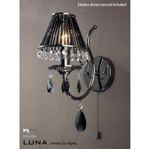 Diyas Luna Crystal Wall 1 Light Black Chrome