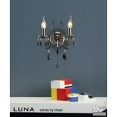 Diyas Luna Crystal Wall 2 Light Black Chrome