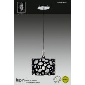 Lupin Pendant 1 Light Polished Chrome/Black/White