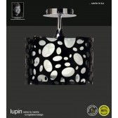 Lupin Semi Ceiling 1 Light Polished Chrome/Black/White