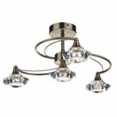 Luther 4 Light Semi Flush - Antique Brass