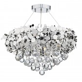 Luxor 9 Light Pendant Polished Chrome Clear