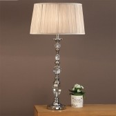 Interiors1900 Polina Nickel Large Table Lamp, Beige Shade