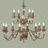 Interiors1900 Polina Brass 12-Light Chandelier
