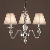 Interiors1900 Polina Nickel 3-Light, Beige Shade