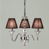 Interiors1900 Polina Nickel 3-Light, Chocolate Shade