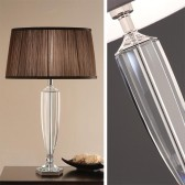 Interiors1900 Hemmingway Table Lamp With Chocolate Pleated Shade