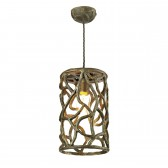Lyra Single Ceiling Pendant Light - Brown, Gold