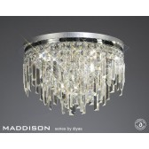 Diyas Maddison Ceiling Round 6 Light Polished Chrome/Crystal