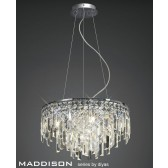 Diyas Maddison Pendant 6 Light Polished Chrome/Crystal