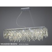 Diyas Maddison Pendant Rectangular 6 Light Polished Chrome/Crystal