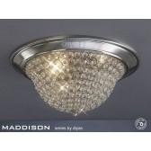 Diyas Paloma Ceiling 2 Light Small Satin Nickel/Crystal