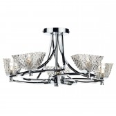 Maestro 5 Light Semi Flush Polished Chrome
