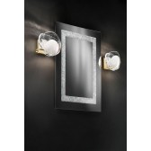 Malindi Single Wall Light - Brass, White Glass