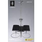 Mara Pendant 3 Light Polished Chrome/Black