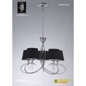 Mara Pendant 5 Light Polished Chrome/Black