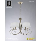 Mara Pendant 5 Light French Gold/Cream