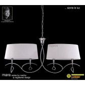 Mara Pendant Bar 4 Light Polished Chrome/Cream