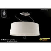Mara Semi Ceiling 4 Light Polished Chrome/Cream
