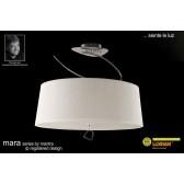 Mara Semi Ceiling 4 Light Polished Chrome/Cream