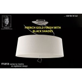 Mara Semi Ceiling 4 Light French Gold/Black