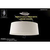 Mara Semi Ceiling 4 Light French Gold/Cream
