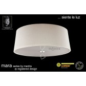 Mara Ceiling 4 Light Polished Chrome/Cream