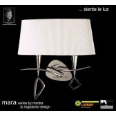 Mara Wall Lamp 2 Light Polished Chrome/Cream Switched