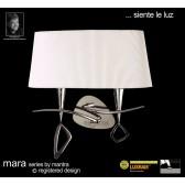 Mara Wall Lamp 2 Light Polished Chrome/Cream Switched
